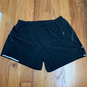Lululemon Black Surge Short 5 in w liner SZ XL